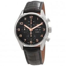 Réplica Tag Heuer Carrera Cronografo Automatico Negro Dial Hombres Reloj CV2A1AB.FC6379