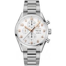 Réplica Tag Heuer Carrera plata Dial Hombres Cronografo Reloj CV2A1AC.BA0738