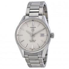 Réplica Tag Heuer Carrera Calibre 5 plata Dial Hombres Reloj WAR211B.BA0782