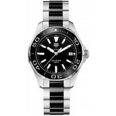 Réplica Tag Heuer Aquaracer Negro Dial Reloj de senoras WAY131A.BA0913