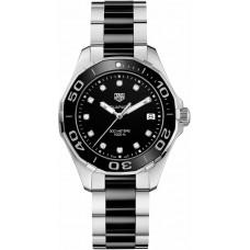 Réplica Tag Heuer Aquaracer Negro Dial Diamante Reloj de senoras WAY131C.BA0913