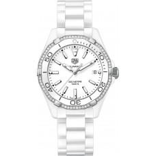 Réplica Tag Heuer Aquaracer Blanco Dial Reloj de senoras WAY1396.BH0717
