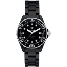 Réplica Tag Heuer Aquaracer Negro Diamante Dial Reloj de senoras WAY1397.BH0743