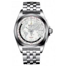 Réplica Breitling Galactic Unitime Acero inoxidable Reloj