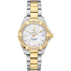 Réplica Tag Heuer Aquaracer Madre perla Dial Reloj de senoras WBD1321.BB0320