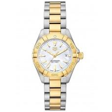 Réplica Tag Heuer Aquaracer Blanco Madre perla Dial Reloj de senoras WBD1420.BB0321