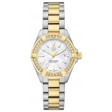 Réplica Tag Heuer Aquaracer Diamante Blanco Madre perla Dial Reloj de senoras WBD1423.BB0321