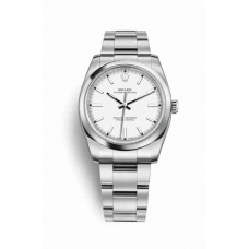 Réplica Rolex Oyster Perpetual 34 OysterAcero 114200 Blanco Dial Reloj