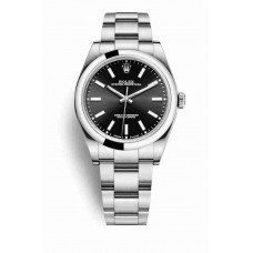 Réplica Rolex Oyster Perpetual 39 OysterAcero 114300 Negro Dial Reloj
