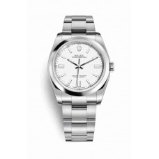 Réplica Rolex Oyster Perpetual 36 OysterAcero 116000 Blanco Dial Reloj