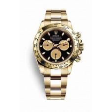 Réplica Rolex Cosmograph Daytona oro amarillo 116508 Negro champagne-colour Dial Reloj