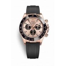 Réplica Rolex Cosmograph Daytona Everose oro 116515LN Rosado Negro Dial Reloj