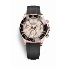 Réplica Rolex Cosmograph Daytona Everose oro 116515LN Ivory-coloured Dial Reloj