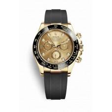 Réplica Rolex Cosmograph Daytona oro amarillo 116518LN Champagne-colour Diamantes Dial Reloj