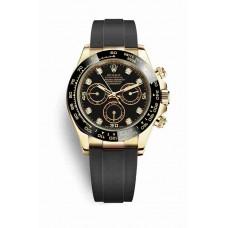 Réplica Rolex Cosmograph Daytona oro amarillo 116518LN Negro Diamantes Dial Reloj