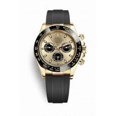 Réplica Rolex Cosmograph Daytona oro amarillo 116518LN Champagne-colour Negro Dial Reloj