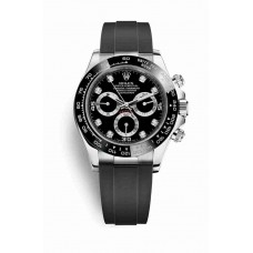Réplica Rolex Cosmograph Daytona Oro blanco 116519LN Negro Diamantes Dial Reloj