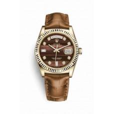 Réplica Rolex Day-Date 36 oro amarillo 118138 Bulls eye Diamantes Dial Reloj