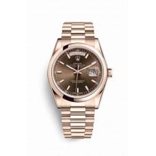Réplica Rolex Day-Date 36 Everose oro 118205 Chocolate Dial Reloj