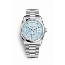 Réplica Rolex Day-Date 36 Platinum 118206 Ice Azul Jubilee Diamantes Dial Reloj