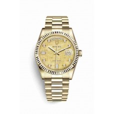 Réplica Rolex Day-Date 36 oro amarillo 118238 Champagne-colour mother-of-pearl Jubilee Diamantes Dial Reloj