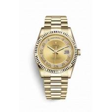 Réplica Rolex Day-Date 36 oro amarillo 118238 Champagne-colour Diamantes Dial Reloj