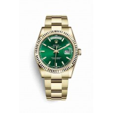 Réplica Rolex Day-Date 36 oro amarillo 118238 verde Dial Reloj