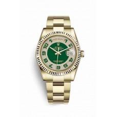 Réplica Rolex Day-Date 36 oro amarillo 118238 verde Diamante paved Dial Reloj