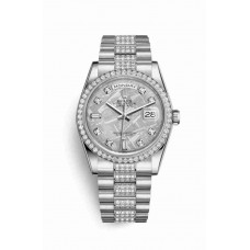 Réplica Rolex Day-Date 36 Platinum 118346 Meteorite Diamantes Dial Reloj