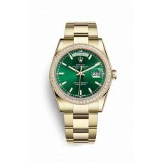 Réplica Rolex Day-Date 36 oro amarillo 118348 verde Dial Reloj