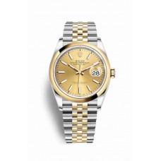 Réplica Rolex Datejust 36 Rolesor Oyster Acero oro amarillo 126203 Champagne-colour Dial Reloj