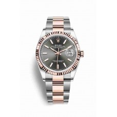 Réplica Rolex Datejust 36 Everose Rolesor OysterAcero Everose oro 126231 Rodio oscuro Dial Reloj
