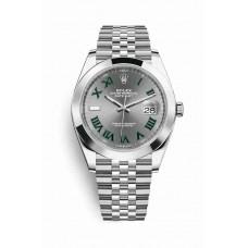 Réplica Rolex Datejust 41 OysterAcero 126300 Slate Dial Reloj