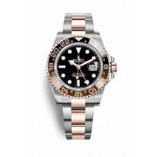Réplica Rolex GMT-Master II Everose Rolesor OysterAcero Everose oro 126711CHNR Negro Dial Reloj