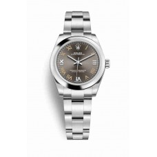 Réplica Rolex Oyster Perpetual 31 OysterAcero 177200 Gris Oscuro Dial Reloj