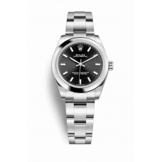 Réplica Rolex Oyster Perpetual 31 OysterAcero 177200 Negro Dial Reloj