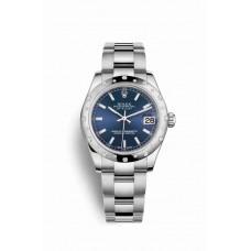 Réplica Rolex Datejust 31 Blanco Rolesor OysterAcero Oro blanco 178344 Azul Dial Reloj