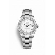 Réplica Rolex Datejust 31 Blanco Rolesor OysterAcero Oro blanco 178384 Blanco Dial Reloj