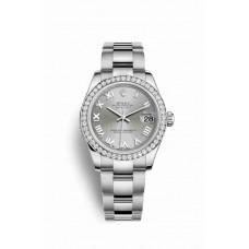 Réplica Rolex Datejust 31 Blanco Rolesor OysterAcero Oro blanco 178384 Rhodium Dial Reloj