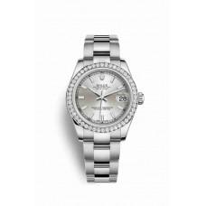Réplica Rolex Datejust 31 Blanco Rolesor OysterAcero Oro blanco 178384 plata Dial Reloj