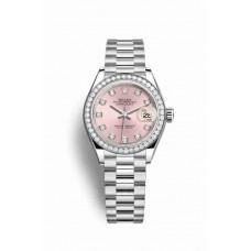 Réplica Rolex Datejust 28 Platinum 279136RBR Rosado Diamantes Dial Reloj