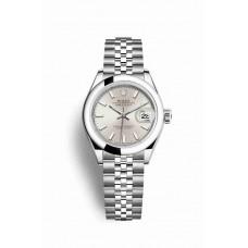 Réplica Rolex Datejust 28 OysterAcero 279160 plata Dial Reloj
