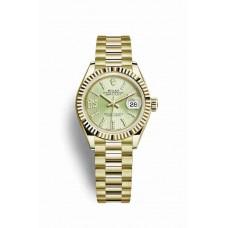 Réplica Rolex Datejust 28 oro amarillo 279178 Linden Diamantes Dial Reloj