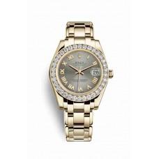 Réplica Rolex Pearlmaster 34 oro amarillo 81298 Acero Dial Reloj