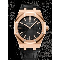 Audemars Piguet Royal Oak 15500 Oro rosado/Negro/Correa 15500OR.OO.D002CR.01
