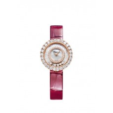 Chopard Happy Diamonds Joaillerie 29MM Oro rosa Cuarzo Diamantes