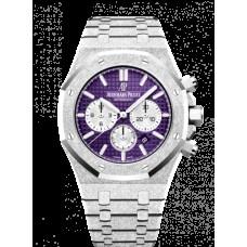 Audemars Piguet Royal Oak 41 Cronografo Frosted Oro Blanca/Purple 26331BC.GG.1224BC.01