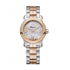 Chopard Happy Sport 18K Oro rosa & Inoxidable Acero & Diamantes 278573-6019