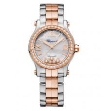 Chopard Happy Sport 18K Oro rosa & Inoxidable Acero & Diamantes 278573-6021