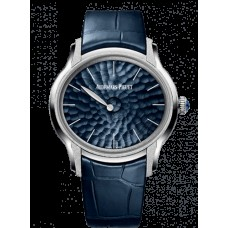Audemars Piguet Millenary Frosted Oro Philosophique Oro Blanco/Azul 77266BC.GG.A326CR.01